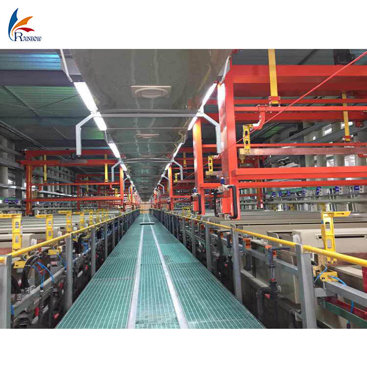 automatic metal electroplating line / plating equipment / zinc rack or barrel plating plant