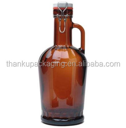 <span class=keywords><strong>2l</strong></span> growler 64 oz bir growler <span class=keywords><strong>botol</strong></span> <span class=keywords><strong>kaca</strong></span> 1l kuning dan jelas 32 oz 1000 ml 2000 ml