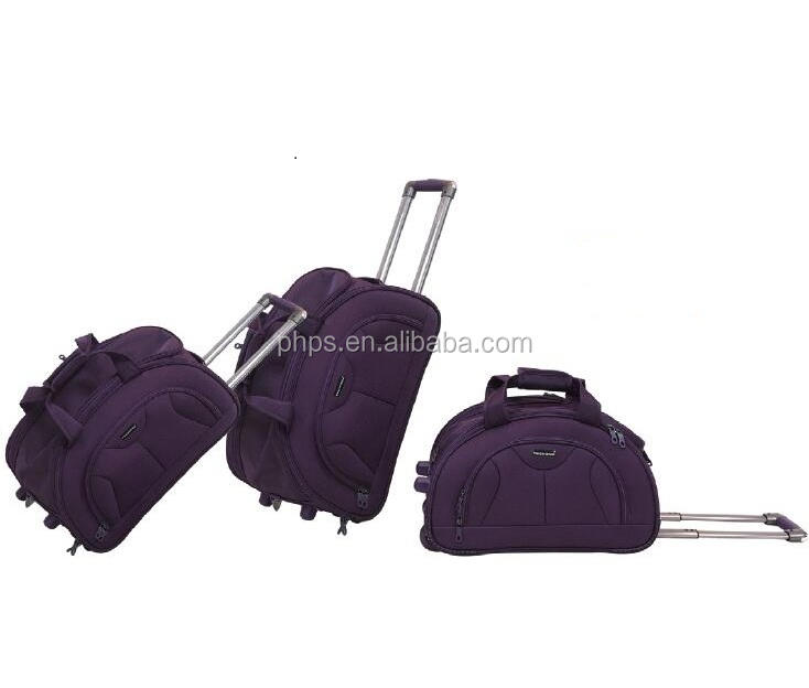 INSIDE TROLLEY BAGS WITH TWO WHEEL STRONG LUGGAGE