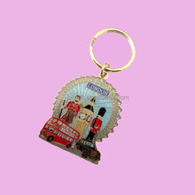 gold enamel custom keychain souvenirs london