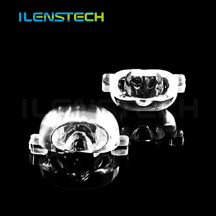 street light led optical lens 70x145degree for lighting components distribution