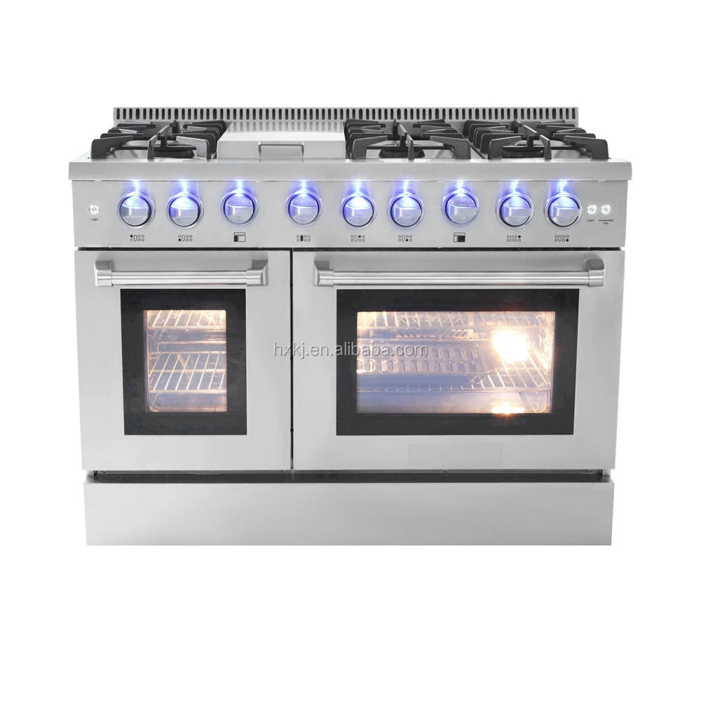 Stainless Steel l Gas Cooking Range with 6 Burner Oven