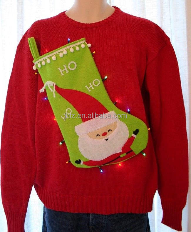 2014 women christmas sweater with led light