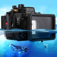 Wholesale price new products PULUZ 40m Underwater Depth Diving Case Waterproof Camera Housing for Panasonic LUMIX DMC-LX100