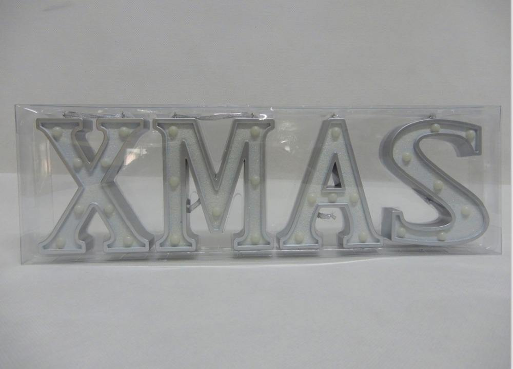 Christmas Decoration Glow Letters Street