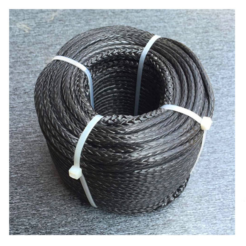 high strength 12mm synthetic electric winch rope