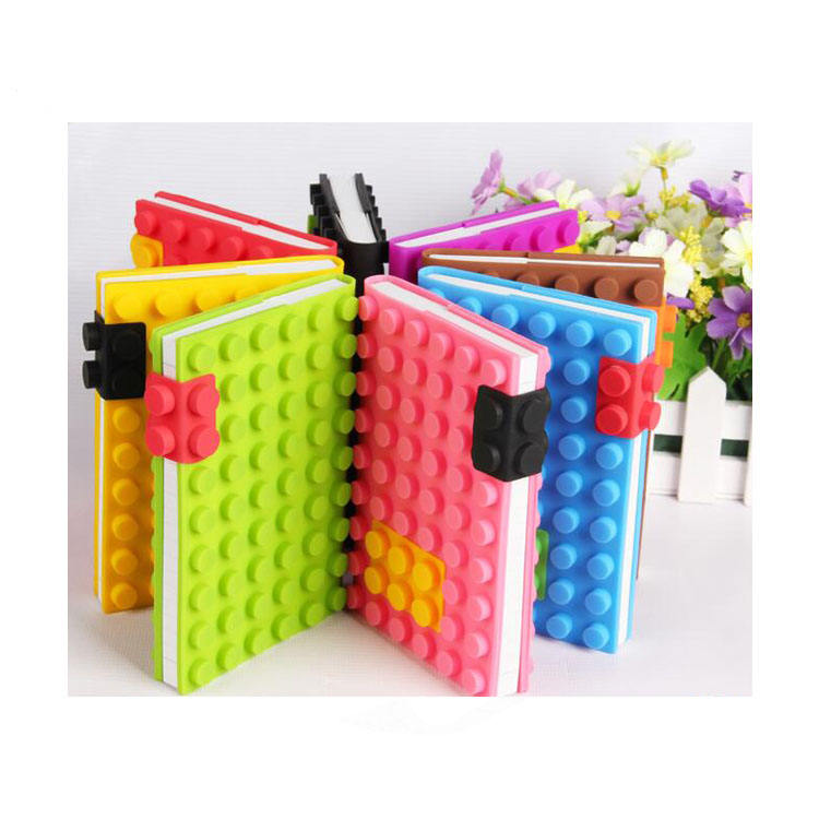 2018 colorful A6 blocks silicone planner journal notebook factory