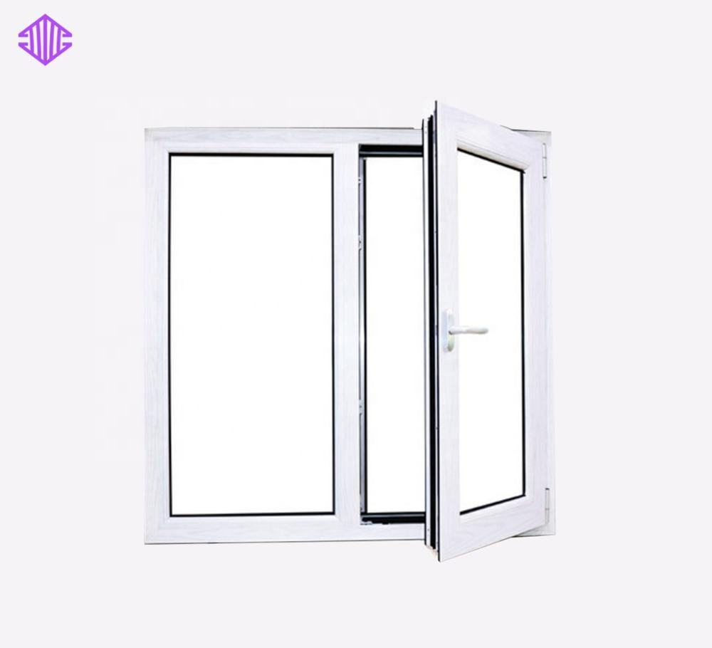 Open outside casement window with rolling mosquito net aluminum frame glass windows