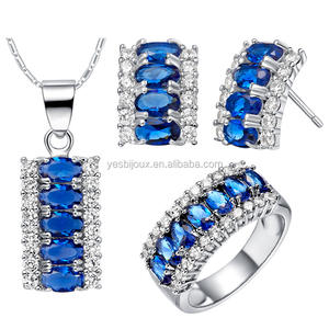 Fashion charmant crystal moti sieraden set
