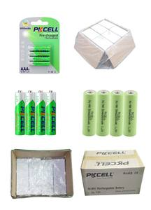 Ni-MH HR03 600MAhแบตเตอรี่Aaa Nimh Low Self-Discharge Ready To Use Than1200รอบชีวิต