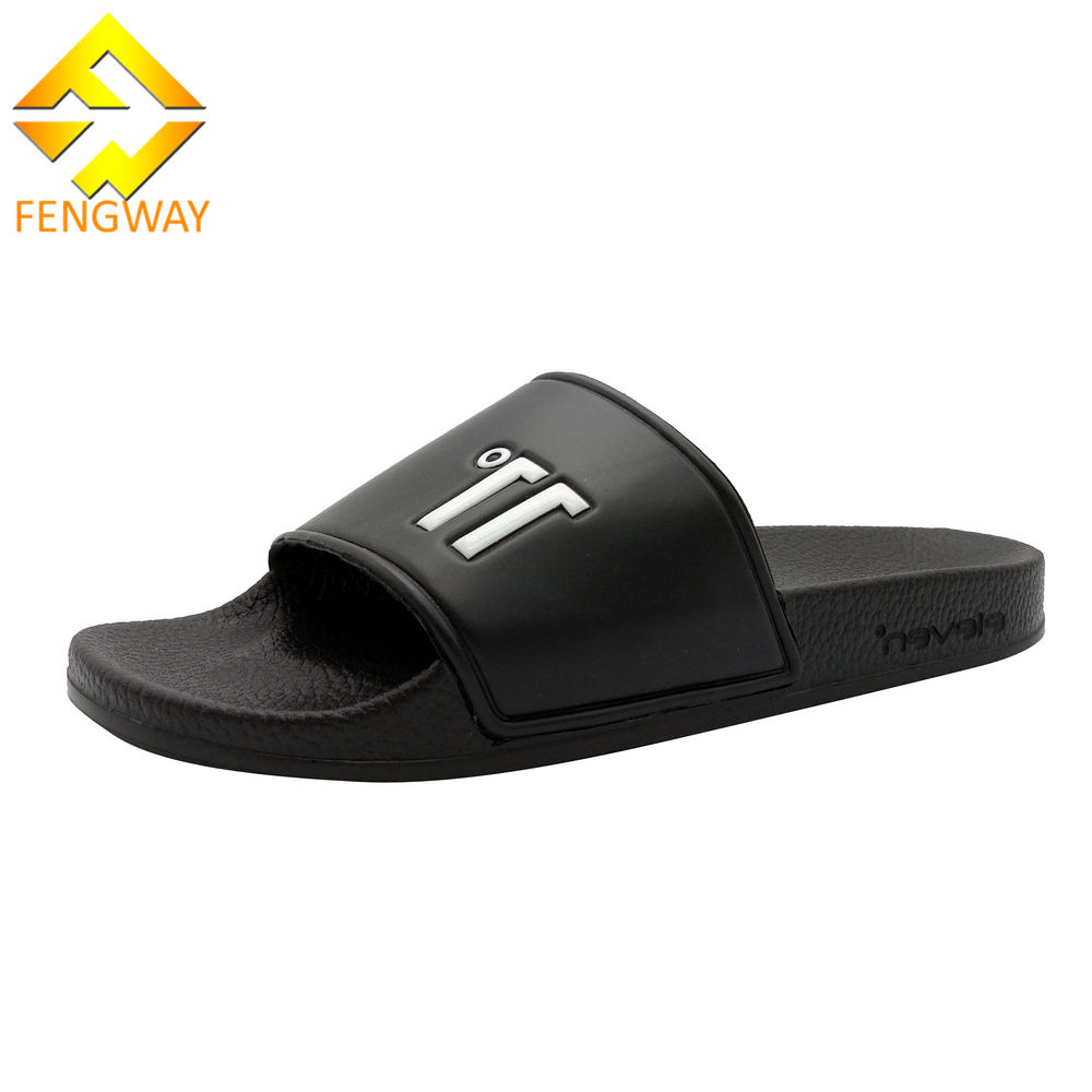 Factory Made PU Custom Logo Slide Sandal