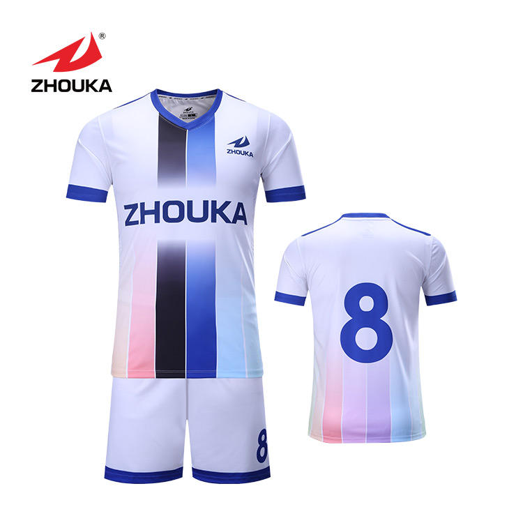 Factory Outlet Wholesale Football Shirts Set Make Your Own Design Soccer Kits Short Sleeve Soccer Jersey.