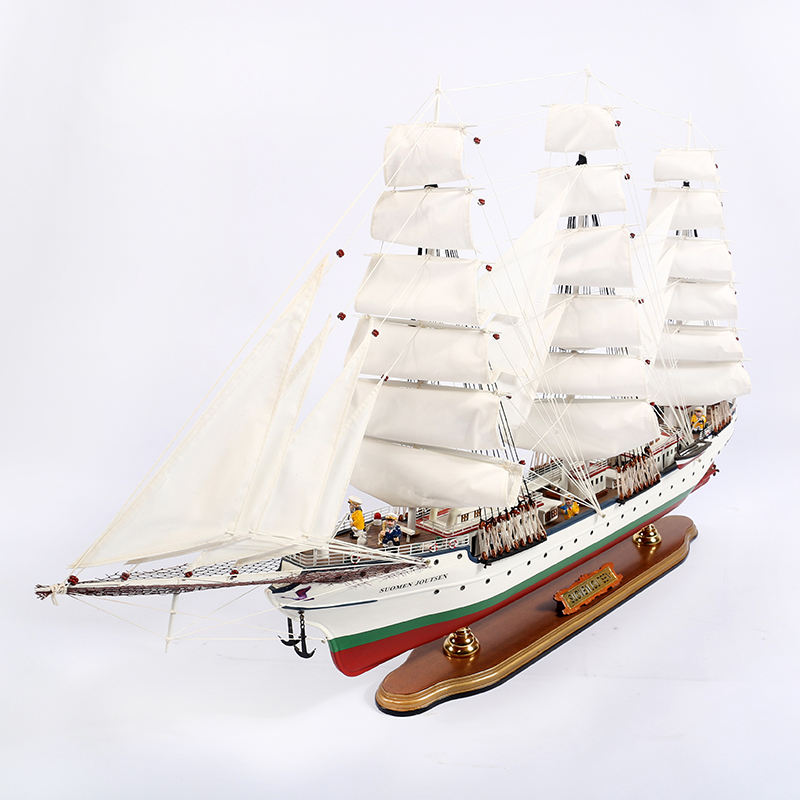 Mettle New Arrival Home Decoration Mediterranean 100 CM Wooden Ship Model