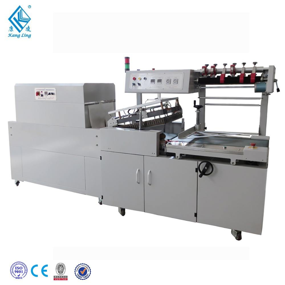 Shrink film wrapping machine -L-Sealer and Shrink Tunnel