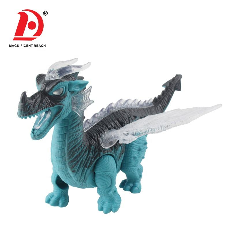 HUADA 2021 High Qualities Likelife Model Toy Lighting Electric Toys Animal Fire Dragon with Sounds