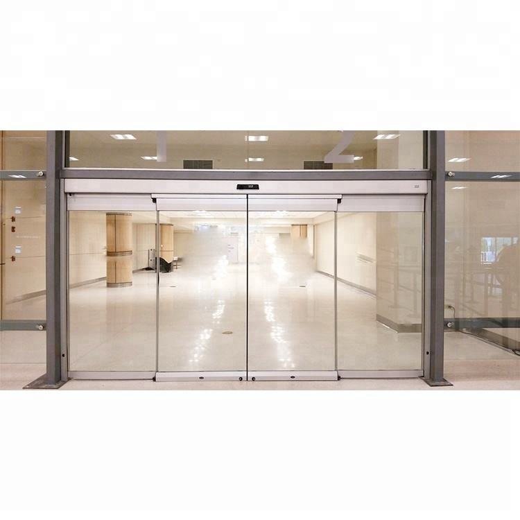 Custom design durable soundproof building materials aluminum frame glass automatic sliding door