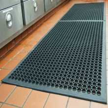 Heavy Duty Water Drain Chef BBQ Grill Sink Rubber Kitchen Floor Mats