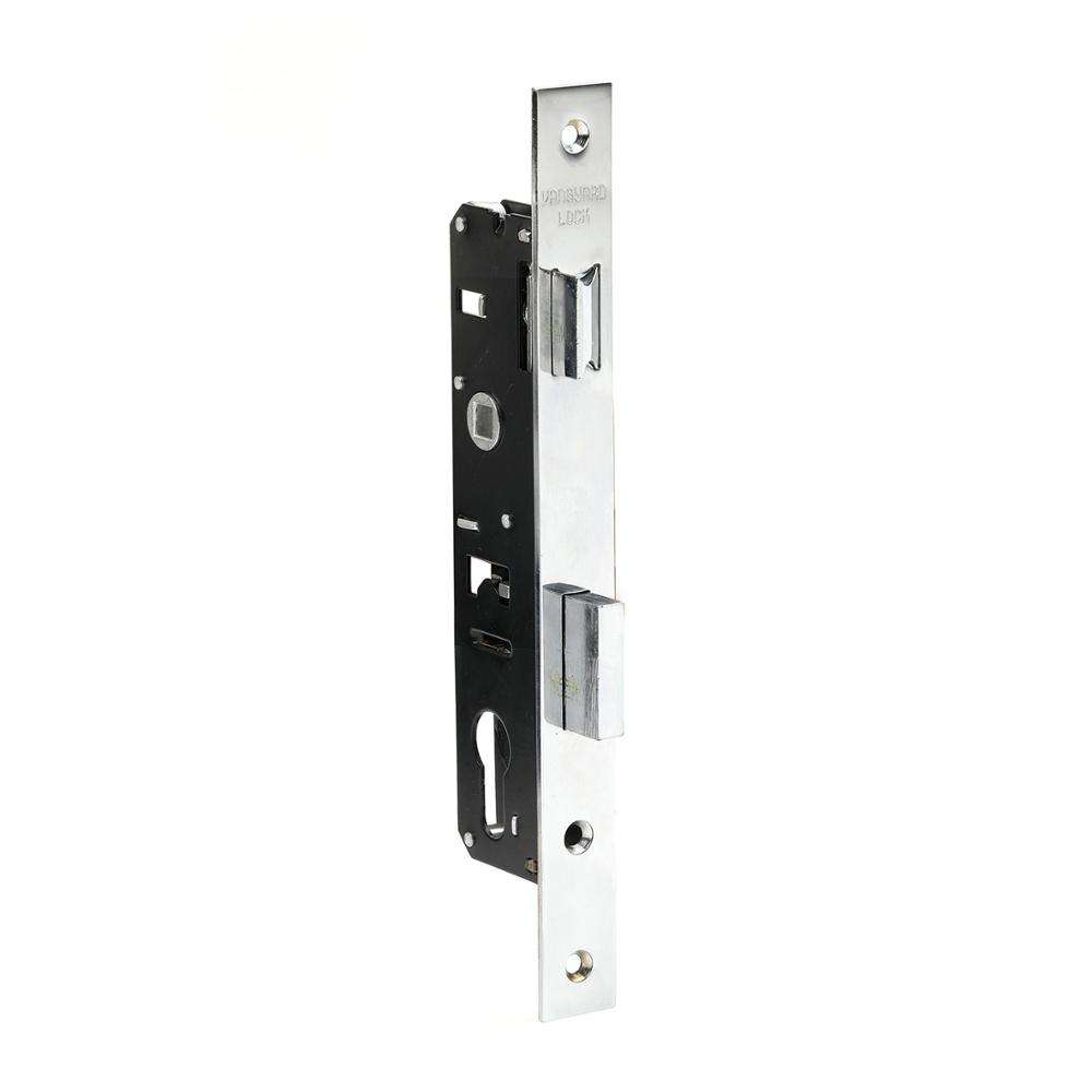 Sliding aluminum narrow door window zinc alloy brass mortise door lock