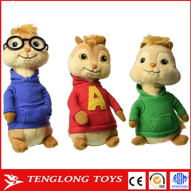 ingrosso fabbrica <span class=keywords><strong>alvin</strong></span> ei chipmunks giocattolo della <span class=keywords><strong>peluche</strong></span> chipmunk