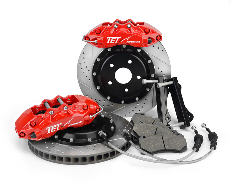 TEI P60 Car Disc Brake Kit With 6 Big Pistons And 355MM Disc For 17'' or Bigger Wheels