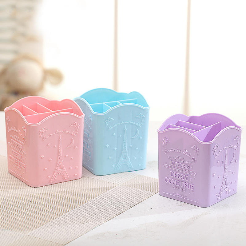 Lovely stationery desktop multifunctional stationery penholder office students Korea ins storage bucket