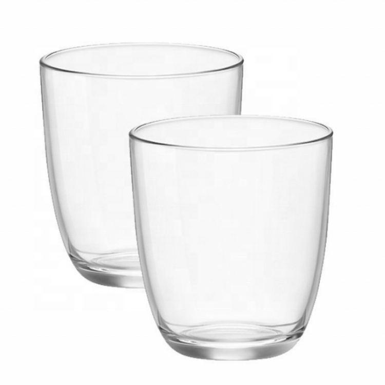 Manufacturer Custom High Borosilicate Double Layer Glass Cups For Juice Beverage