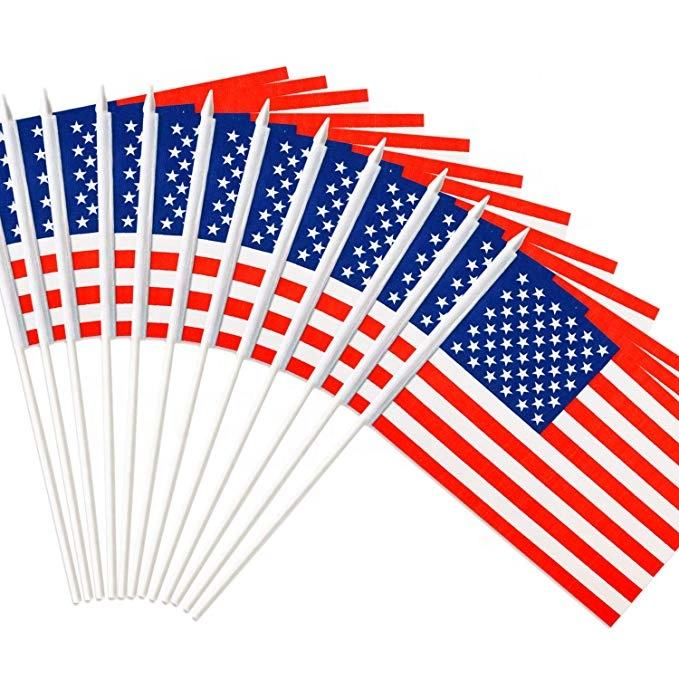 도매 Campaign 프로모션 호주 싼 손 custom printed flags 선거 national american flag
