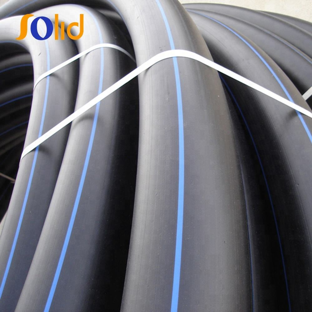 Water Supply Flexible Black Plastic HDPE Polyethylene Pipe Roll