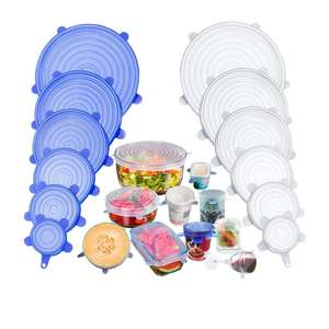 Reusable BPA Free Food Fresh Covers Silicone Stretch Lids