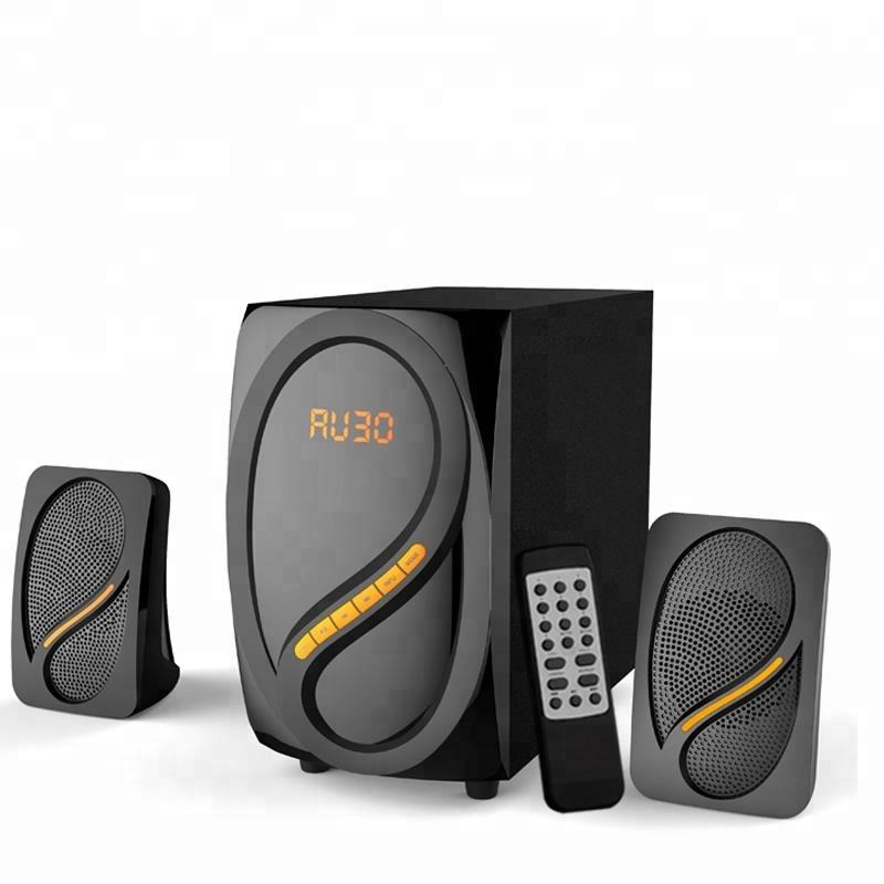 2.1 CH Multimedia Speaker untuk Indoor Aktivitas Modis Profesional Kompak Diperkuat Multimedia Speaker Komputer