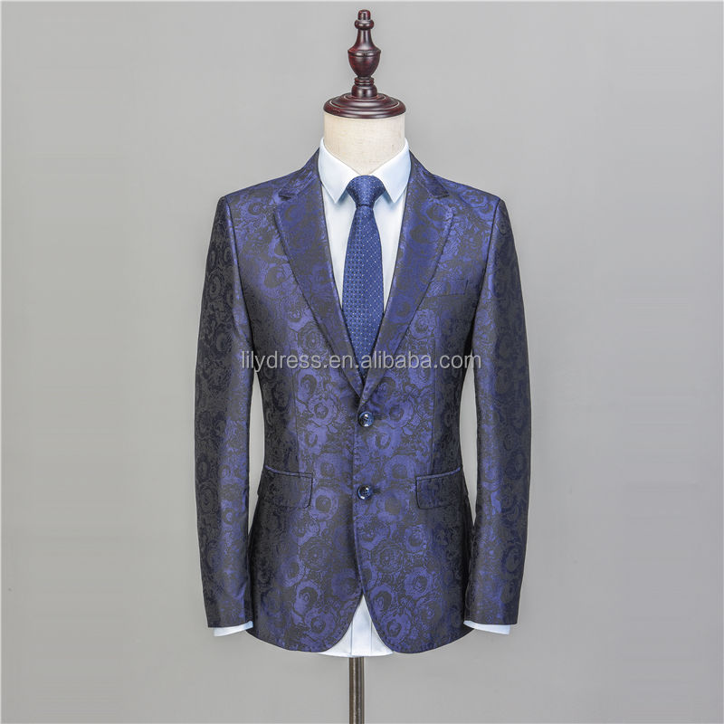 NA46 Floral Suit Men 2020 Flower Pattern Wedding Suits For Men Slim Fit Mens Party Prom Suits Single Breasted Two Buttons Blazer