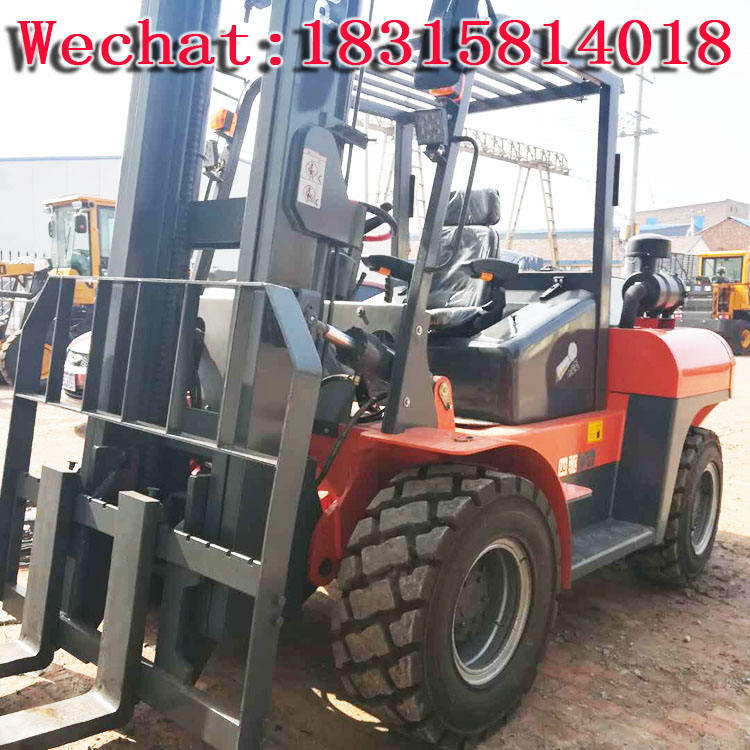 3 ton balanced four-wheel drive cross-country forklift sand road transport