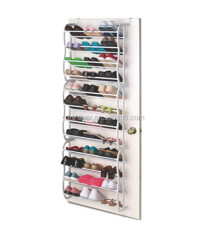 36 pair wall mounted door shoe hanger