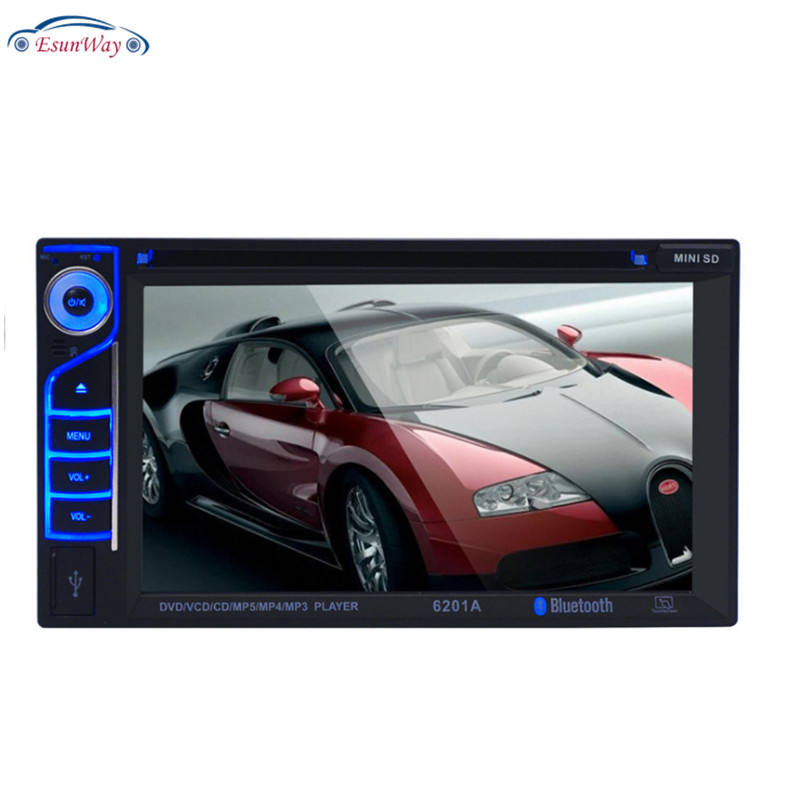 6.2Inch 2 Din Car Radio CD/DVD Display Bluetooth Mirror Link Dual Din Car Multimedia Player Hd Press Radio Mp5 Usb Audio Stereo