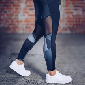Women Yoga Leggings Running Gym Workout Clothes Sexy Mesh Pants