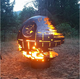 36inch rust metal art death star design fire ball for garden decor