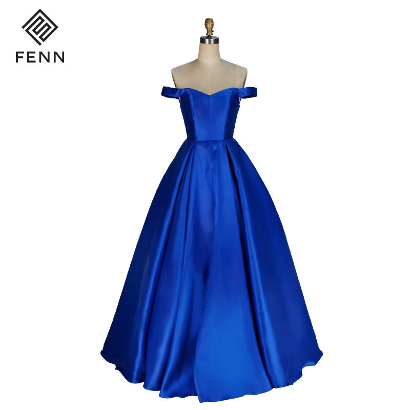 Real Photos Ball Gown Formal Open Back Handwork Royal Sweetheart Prom Dress Women Party dresses
