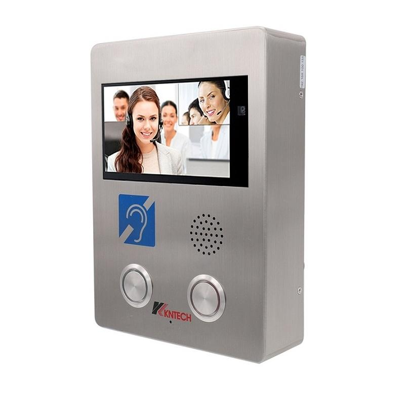 "IP Video Phone Systems Induction Loop Help Point VoIP 7"" Digital TFT Screen Emergency Intercom"