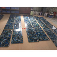 luxury home natural stone blue agate tiles price