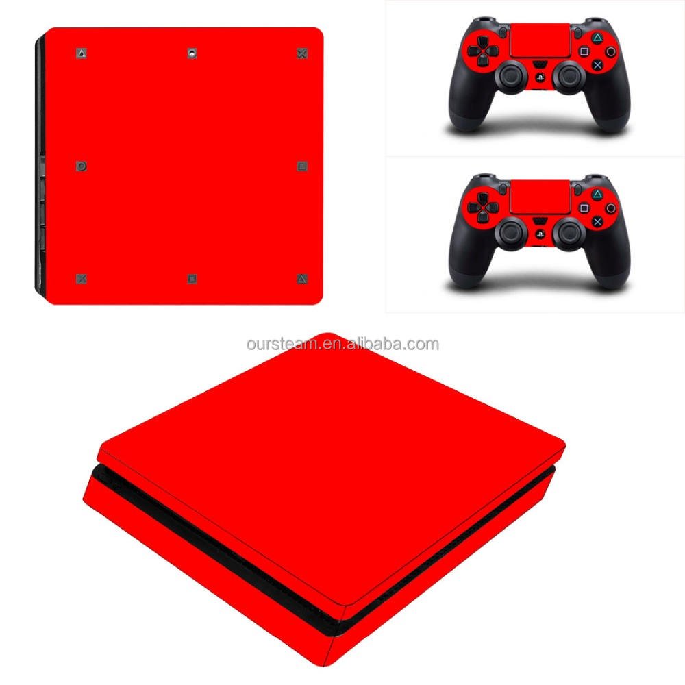 Speciale design vinyl sticker per ps4 console slim decal per playstation 4 slim