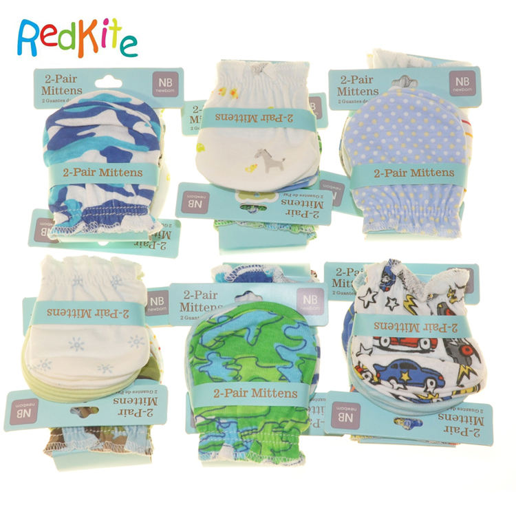 Wholesale Funny Infant Baby Teething Mitten Latest Cotton Mitten Set Baby Teething Glove