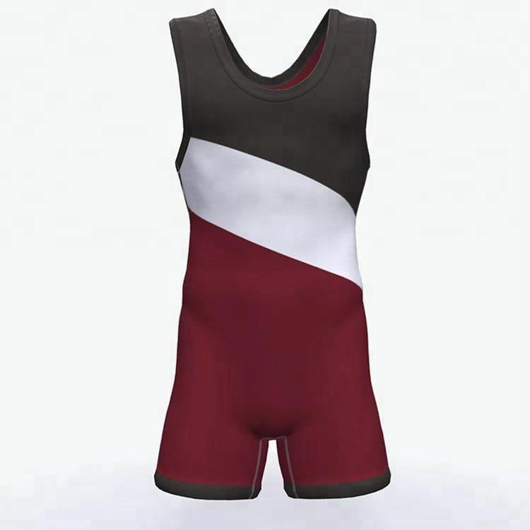Custom made pro american flag youth college wrestling singlet for team
