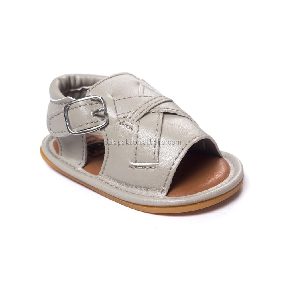 Solid Baby Shoes Pu Leather Moccasins Infant Baby Sandals