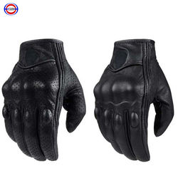 K-comfort Retro Perforated Real Leather Motorcycle Glove Moto Waterproof Gloves Motorcycle Protective Gear Motocross Gloves gift