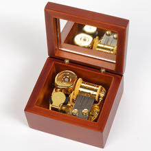Wholesale Wind up Wooden Music Box with Custom Music