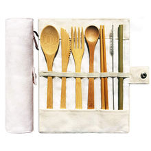 Eco Friendly Flatware Set Travel Utensils Bamboo Cutlery