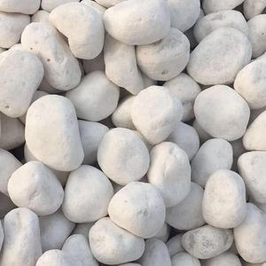 polished white pebbles for landscaping