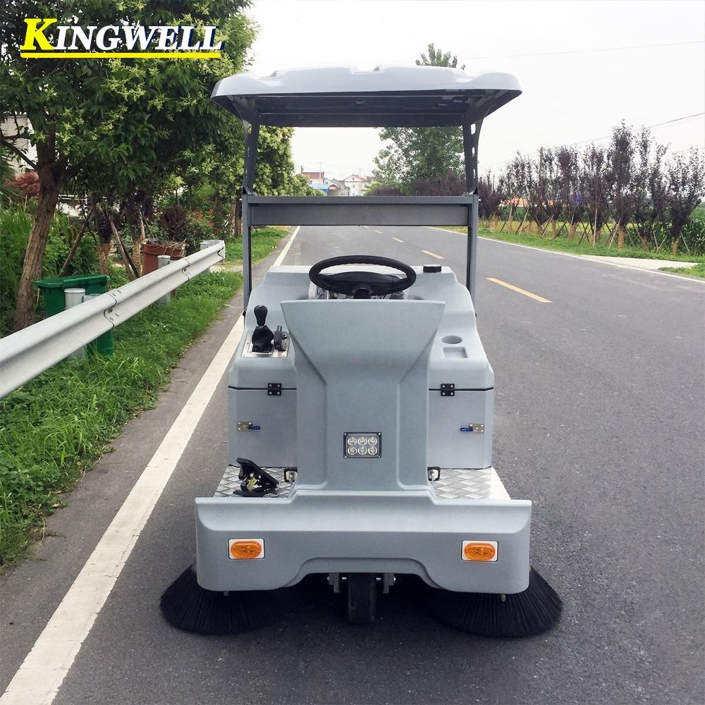 KW-1400C KINGWELL Chinese Best Quality Industrial Electric Road Sweeper For Concrete Road