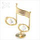 Crystocraft Unique Gold Plated Metal Music Note Ornaments wholesale Decorated with Crystals from Swarovski Home Decor