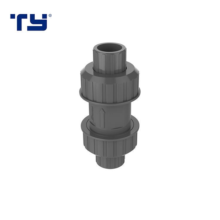 PVC-U Vertical Check Non Return True Union Ball Valve Socket PVC check valve